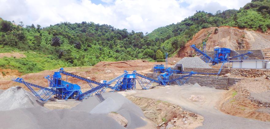 贵州毕节时产300吨花岗岩生产线