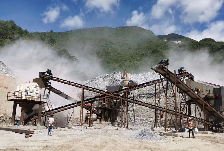 缅甸时产300吨石灰石破碎生产线