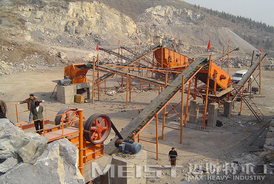 四川巴中400吨石灰石破碎线