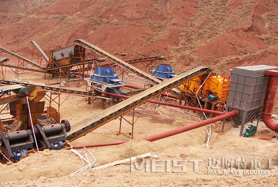 云南昆明800t/h河卵石制砂生产线