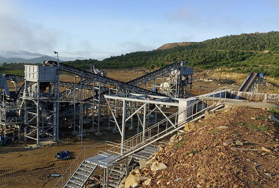 广西北海800t/h石灰石破碎生产线