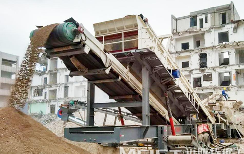 湖南郴州500t/h建筑垃圾破碎线
